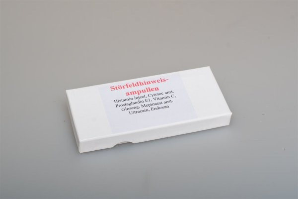 Störfeldhinweisampullen Testsatz