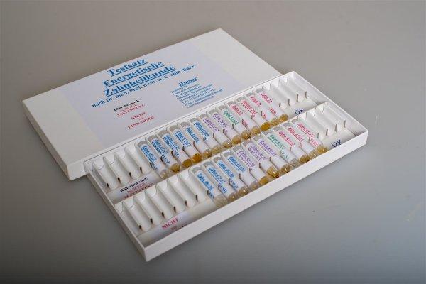 Zahnheilkunde (energetisch)Testsatz nach F. Bahr